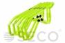 Набор тренировочных барьеров для бега SECO® 15-33 см неонового цвета (5 шт)  0