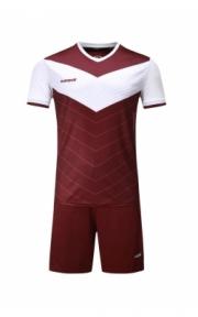 Футбольная форма Europaw 019  (бордово-белая)