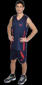 Баскетбольная форма темно - синяя EUROPAW model:8909ts