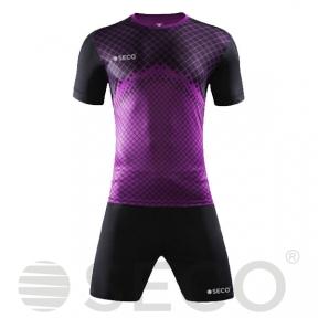 Футбольная форма SECO® Geometry Set черно-фиолетовая