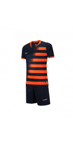 Футбольная форма Europaw 021 сезон 2019 (черно-оранжевая)