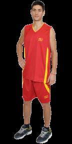 Баскетбольная форма красная EUROPAW model:8909k