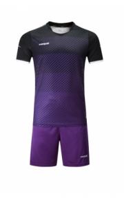 Футбольная форма Europaw 017 (чёрно-фиолетовая)