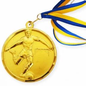 Медаль M2-4 футбол золото (50 мм)