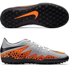 Сороконожки Nike Hypervenom Phelon II TF (бел.-оранж.)