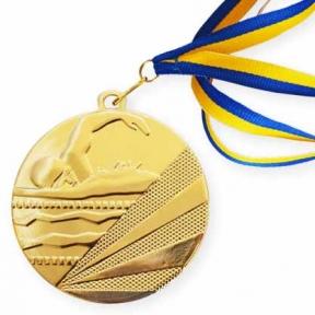 Медаль плаванье (50 мм)