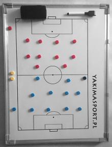 Большая тактическая доска для футбола с магнитами YAKIMASPORT