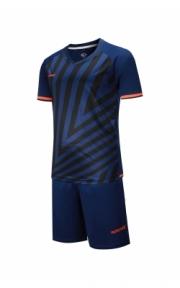Футбольная форма Europaw 016 (тёмно-сине-оранж.)