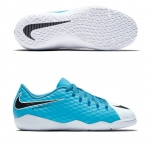 Детские футзалки Nike Hypervenom Phelon III IC Junior White Blue